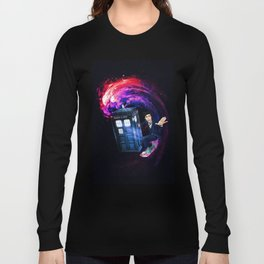 Doctor Who Space Surfing Long Sleeve T-shirt