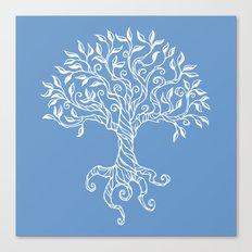 Tree of Life Blue Canvas Print
