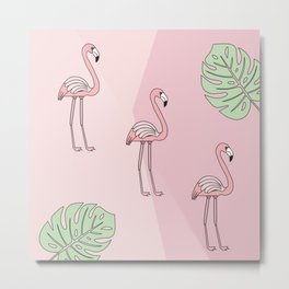 3 Pink Flamingos are better than 1 Metal Print