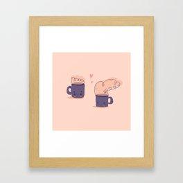 cute tiny mugs Framed Art Print