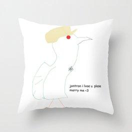 Ode to Jon-Tron Throw Pillow