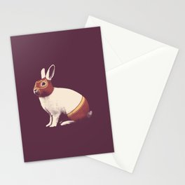 Lapin Catcheur (Rabbit Wrestler) Stationery Cards