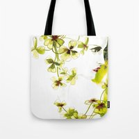 clover Tote Bags featuring Clover by Ekaterina Koroleva