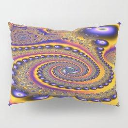 Blue Gold 3 Abstract Fractal Art6 Pillow Sham
