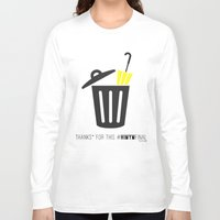 himym Long Sleeve T-shirts featuring Thanks for this HIMYMfinal by Violet's Corner