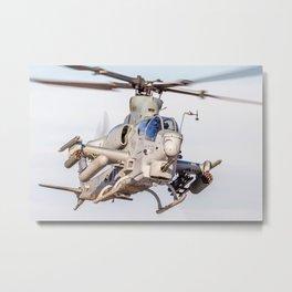 USMC Cobra Attack Helicopter Metal Print