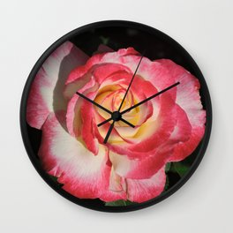 Multi-Hued Rose Wall Clock