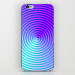Coiled in Blue and Pink iPhone Skin