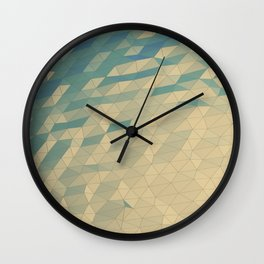 Only Colored Triangles Wall Clock