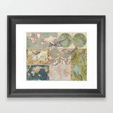 Flight Patterns Framed Art Print