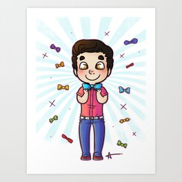 Bow Tie Day Art Print