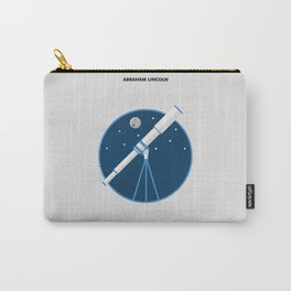 Lab No. 4 - The Future Is To Create It Abraham Lincoln Motivational Quotes Poster Carry-All Pouch