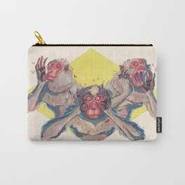 3 Wise Monkeys Carry-All Pouch