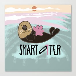 Smart otter Canvas Print