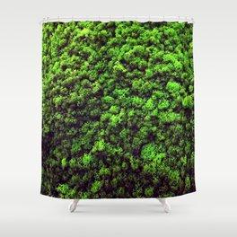 Dark Green Moss Shower Curtain