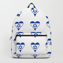 flag of israel 6-יִשְׂרָאֵל ,israeli,Herzl,Jerusalem,Hebrew,Judaism,jew,David,Salomon. Backpack