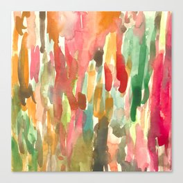 Watercolor Jungle Canvas Print