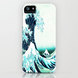 the great wave : aqua teal iPhone Case