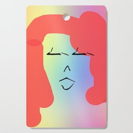 LADY WITH RED HAIR Portrait Design Illustration Cutting Board