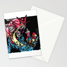 Red Gyarados Stationery Cards
