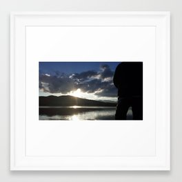 Sunset at the Buttes Framed Art Print
