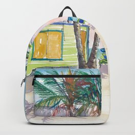 Caribbean Surf Beach Bar Boards and Sunset Backpack
