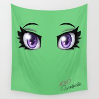 humor Wall Tapestries featuring Parenthesis Humor Eyes by Minerva Mopsy