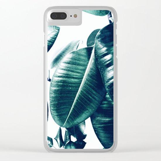 Ficus Elastica #1 Clear iPhone Case