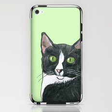 Black and White Cat  iPhone & iPod Skin