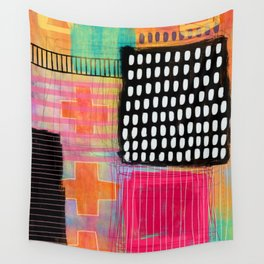 sometimes it all works - abstract painting Wall Tapestry