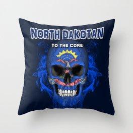 To The Core Collection: North Dakota Throw Pillow