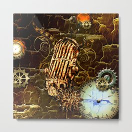 Steampunk, micropphone Metal Print
