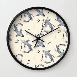 Japanese fish pattern Wall Clock