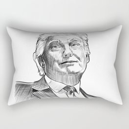 Donald Trump eyes of a disaster Rectangular Pillow