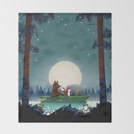 Bear and Fox Throw Blanket