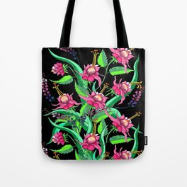 The Zoe in black Tote Bag