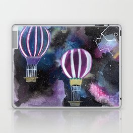 Hot Air Balloon in Galaxy Sky Laptop & iPad Skin