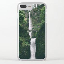 Multnomah Falls III Clear iPhone Case