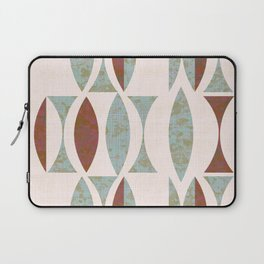 Seventies Aqua and Wood Laptop Sleeve