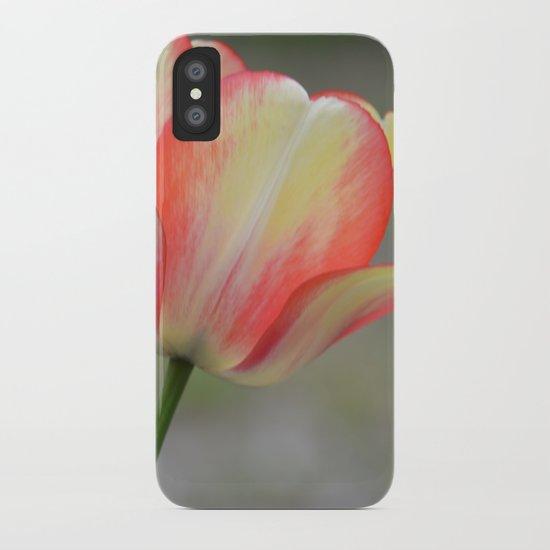 Hope, Faith, Love Tulip iPhone Case
