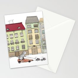 Budapest and the wandering cat Stationery Cards