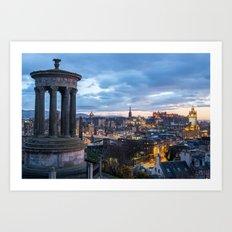 Edinburgh from Calton Hill Art Print