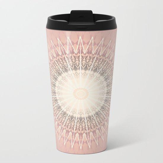 Rose Mandala Metal Travel Mug