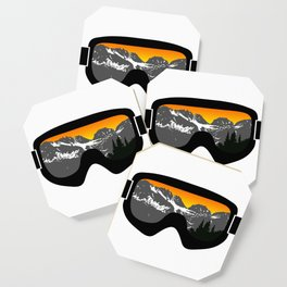 Sunset Goggles 2 | Goggle Designs | DopeyArt Coaster