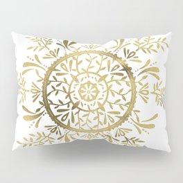 Leaf Mandala – Gold Palette Pillow Sham
