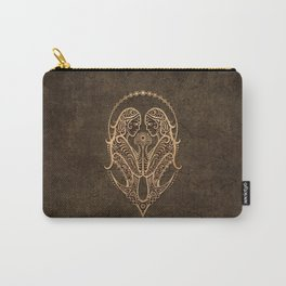 Vintage Rustic Gemini Zodiac Sign Carry-All Pouch