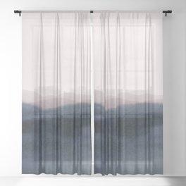 dusk scenery Sheer Curtain