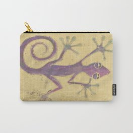 Purple Gecko of Love Carry-All Pouch