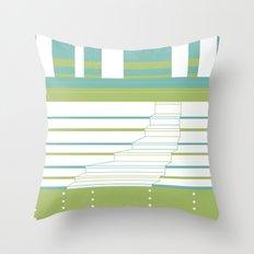 Layered Town Throw Pillow