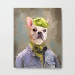 Chic French Bulldog Metal Print